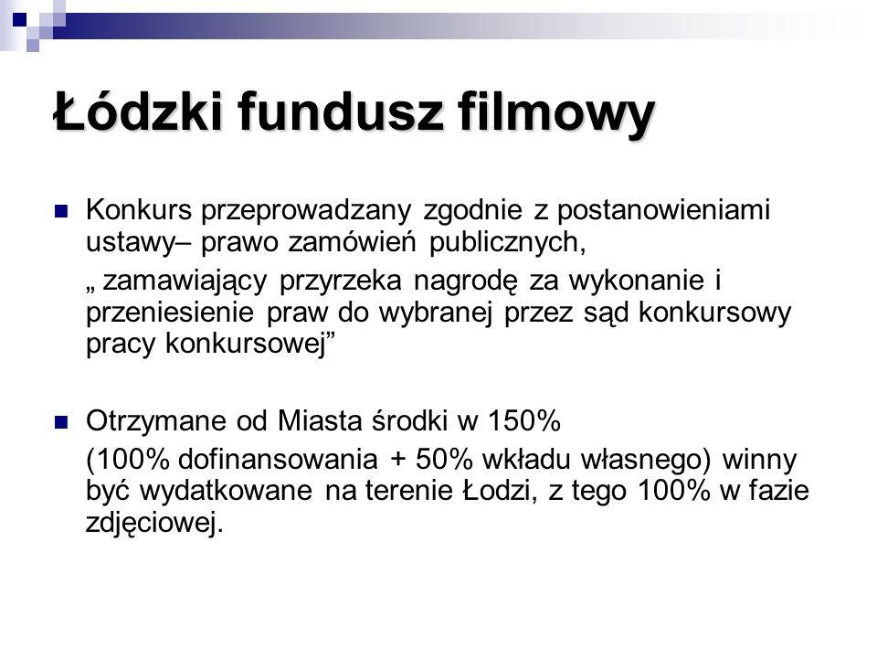 Łódzki fundusz filmowy