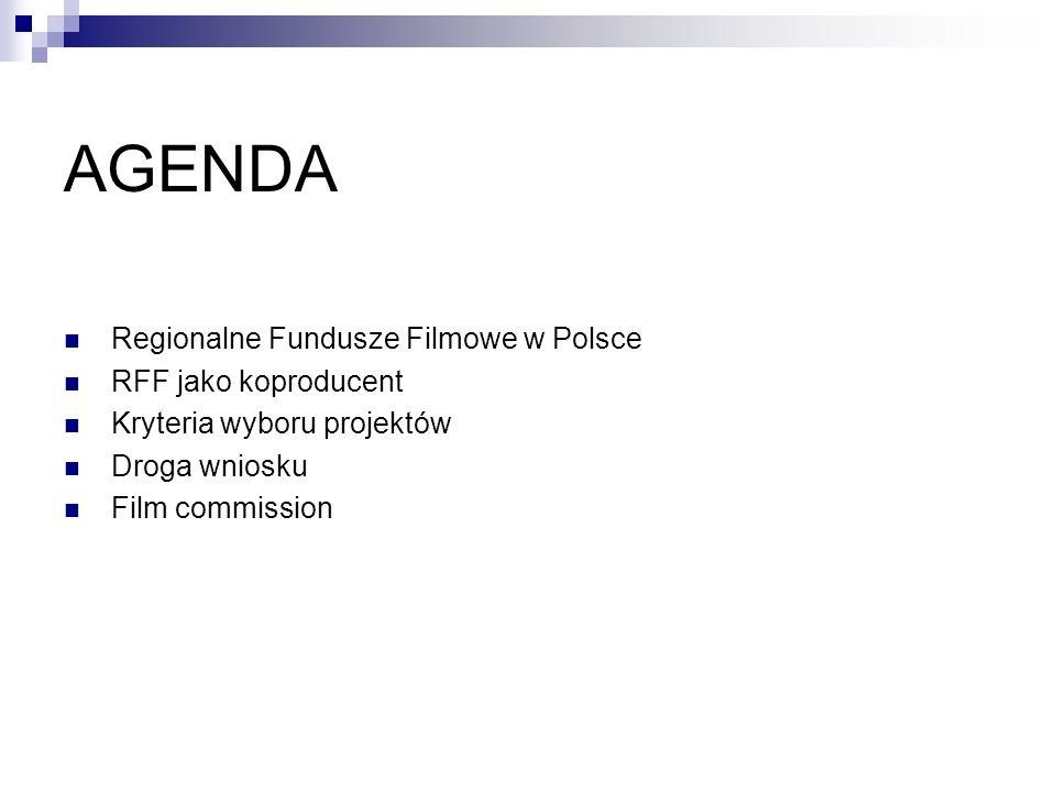 AGENDA Regionalne Fundusze Filmowe w Polsce RFF jako koproducent