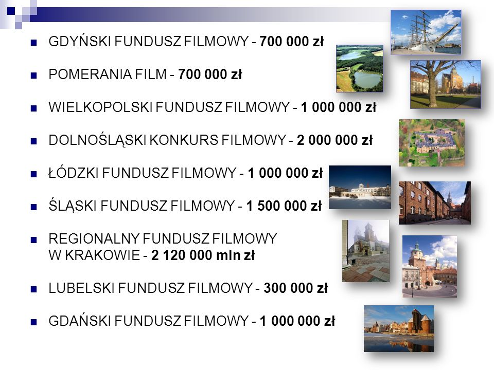 GDYŃSKI FUNDUSZ FILMOWY - 700 000 zł