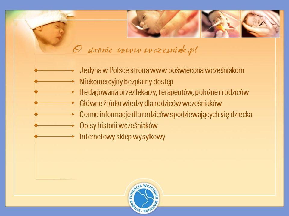 Jedyna w Polsce strona www poświęcona wcześniakom