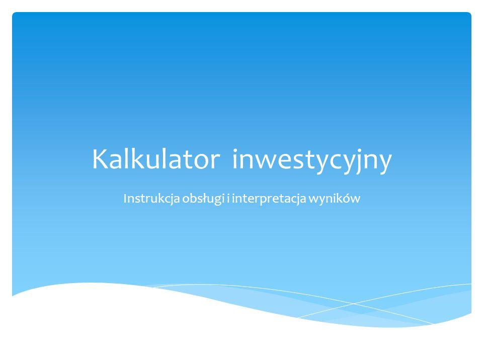 Kalkulator inwestycyjny