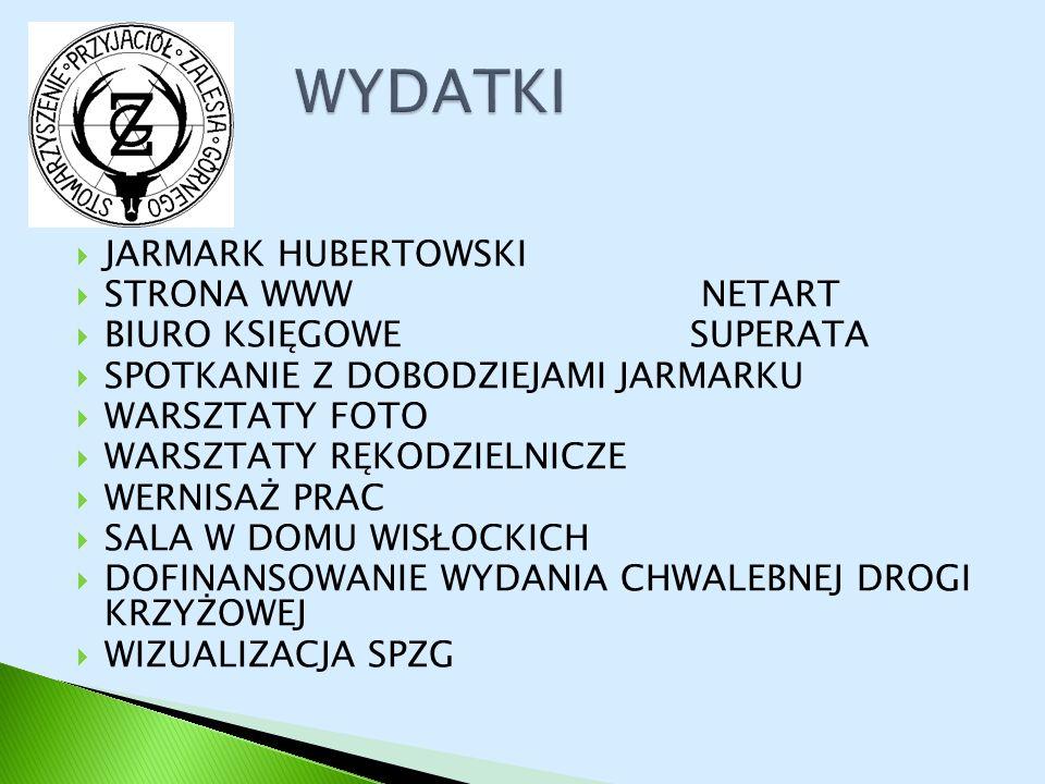 WYDATKI JARMARK HUBERTOWSKI STRONA WWW NETART BIURO KSIĘGOWE SUPERATA