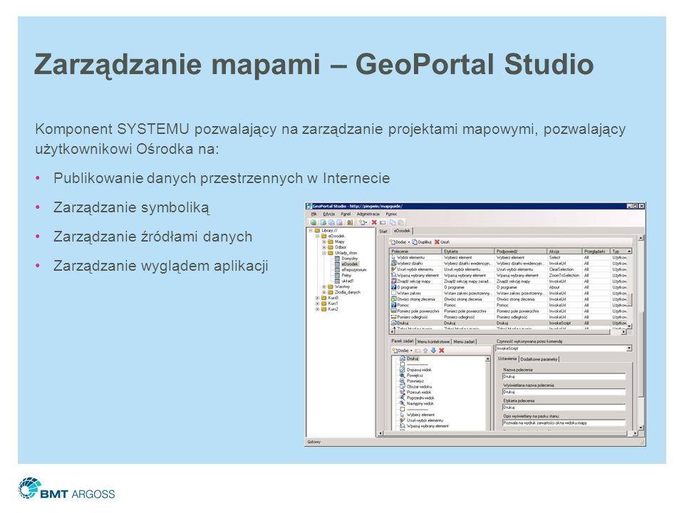 Zarządzanie mapami – GeoPortal Studio