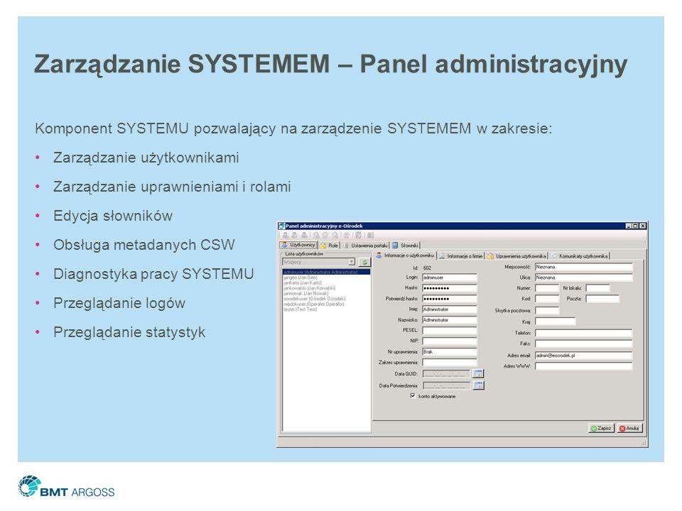 Zarządzanie SYSTEMEM – Panel administracyjny