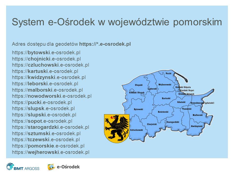 System e-Ośrodek w województwie pomorskim