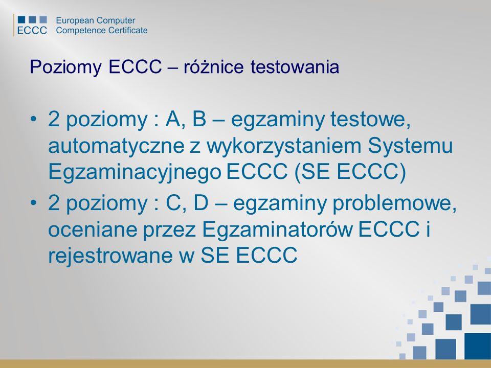 Poziomy ECCC – różnice testowania