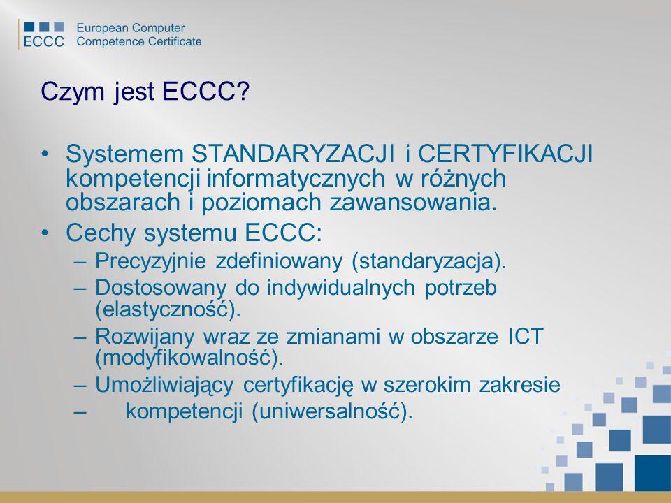 Czym jest ECCC Systemem STANDARYZACJI i CERTYFIKACJI kompetencji informatycznych w różnych obszarach i poziomach zawansowania.