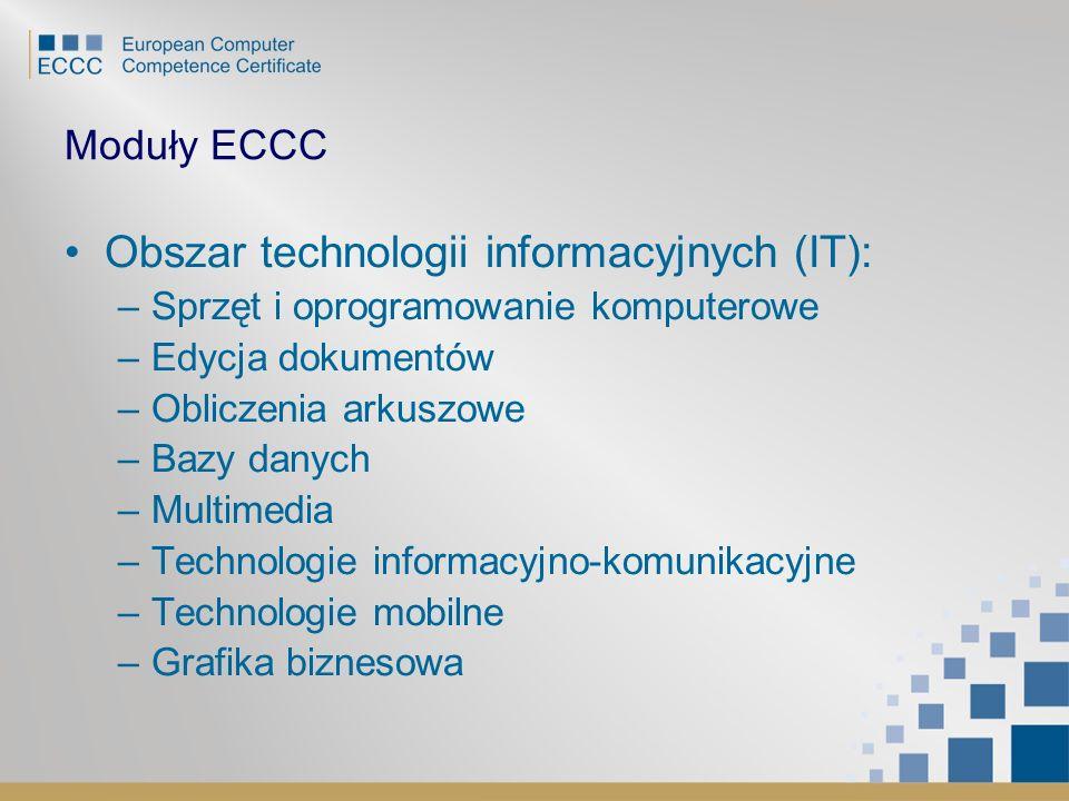 Obszar technologii informacyjnych (IT):