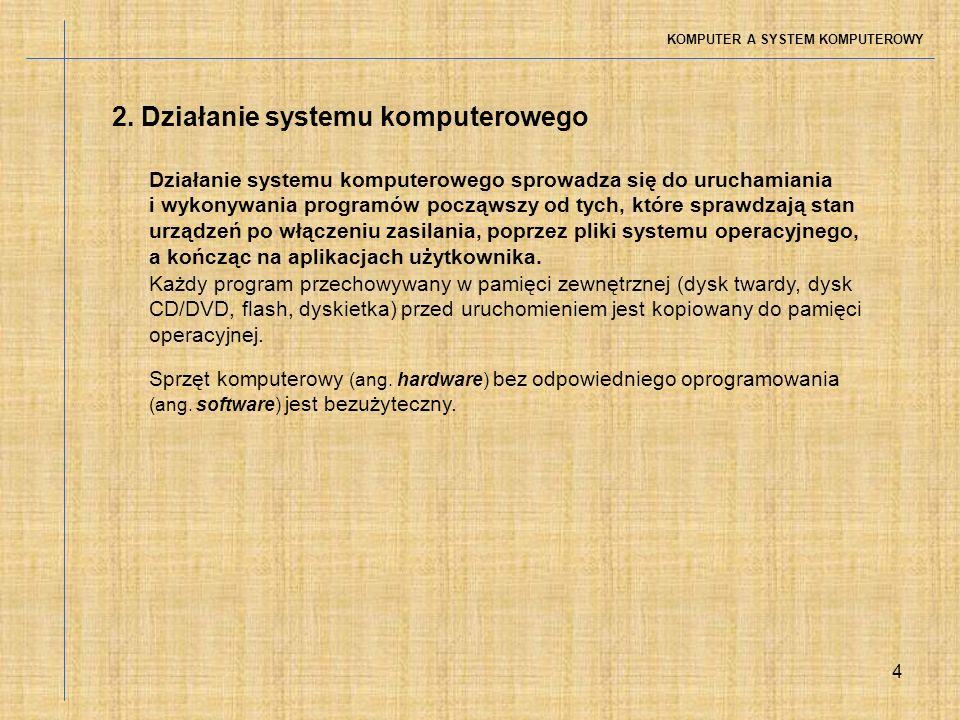 2. Działanie systemu komputerowego