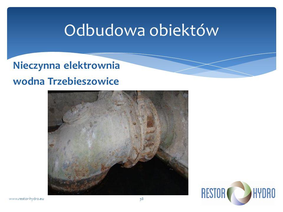 Odbudowa obiektów Nieczynna elektrownia wodna Trzebieszowice
