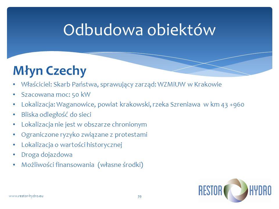 Odbudowa obiektów Młyn Czechy