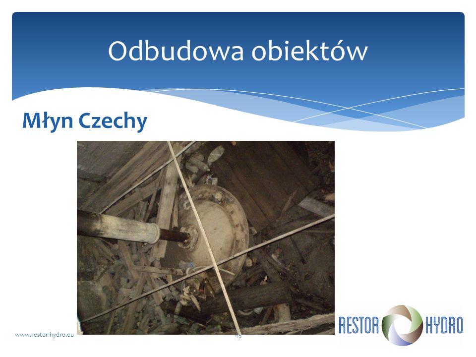 Odbudowa obiektów Młyn Czechy www.restor-hydro.eu