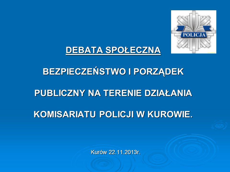DEBATA SPOŁECZNA BEZPIECZEŃSTWO I PORZĄDEK PUBLICZNY NA TERENIE DZIAŁANIA KOMISARIATU POLICJI W KUROWIE.