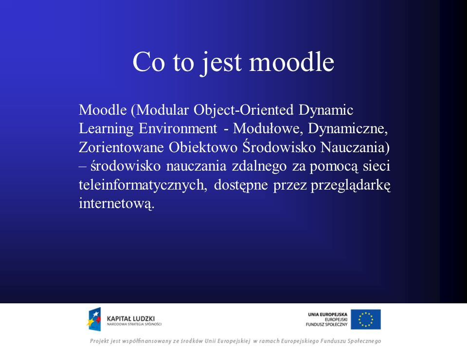 Co to jest moodle