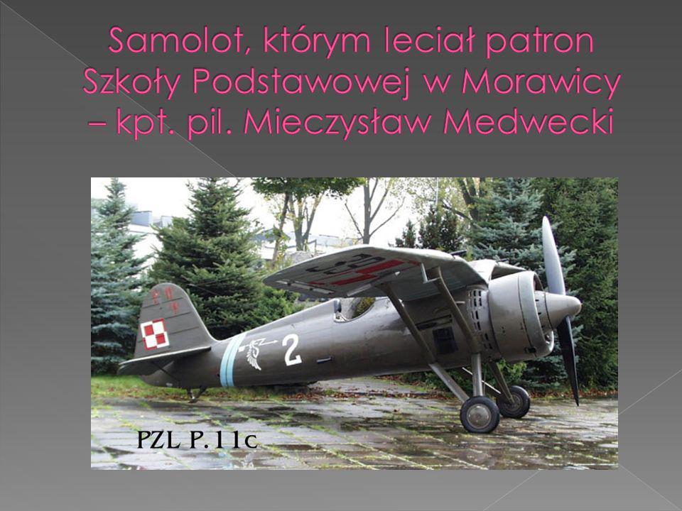 Samolot, którym leciał patron Szkoły Podstawowej w Morawicy – kpt. pil