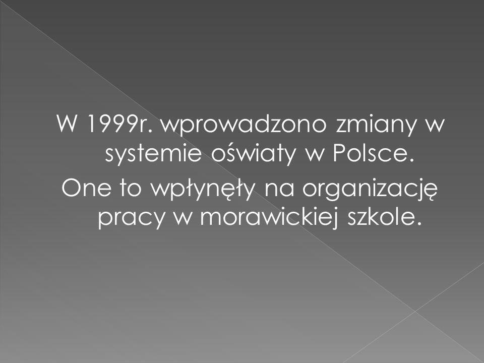 W 1999r. wprowadzono zmiany w systemie oświaty w Polsce.