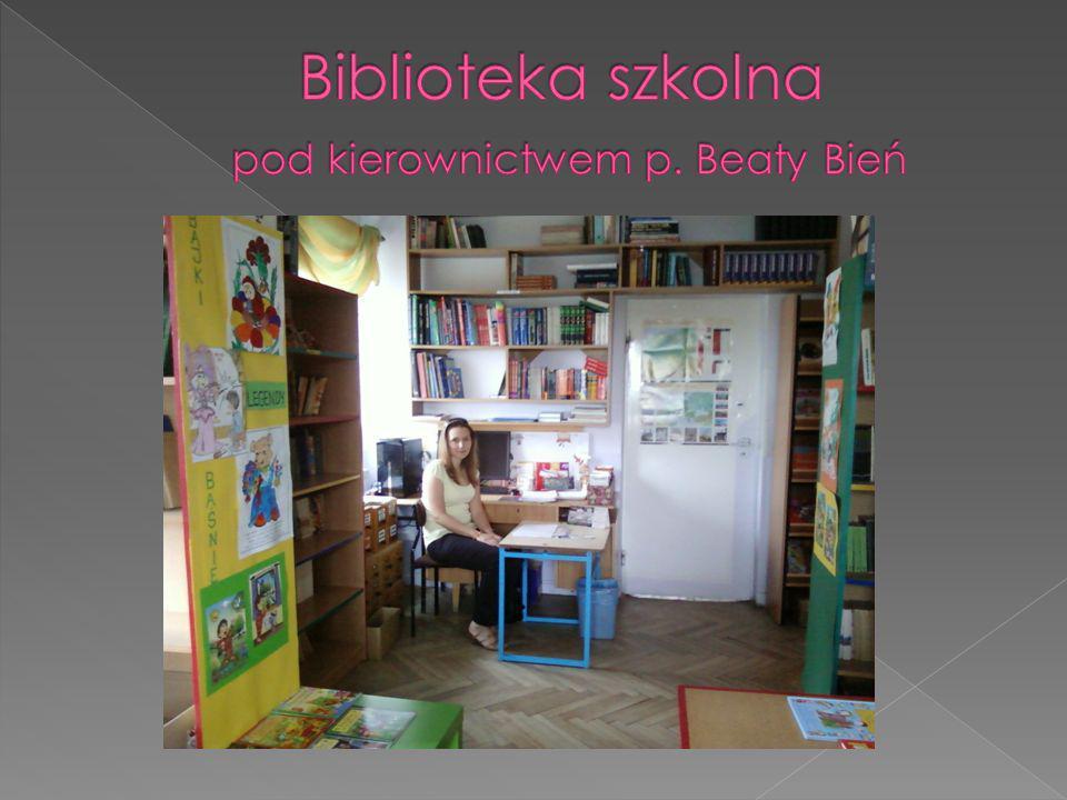 Biblioteka szkolna pod kierownictwem p. Beaty Bień
