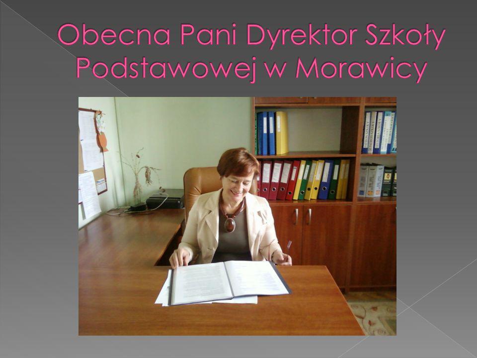 Obecna Pani Dyrektor Szkoły Podstawowej w Morawicy