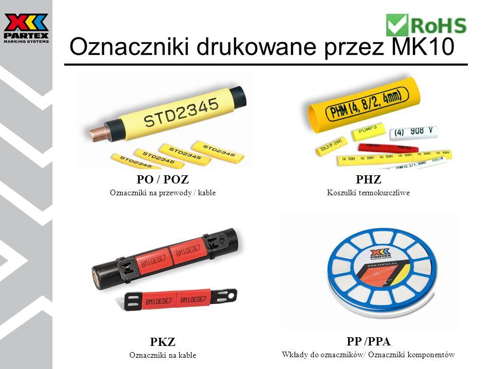 Oznaczniki drukowane przez MK10