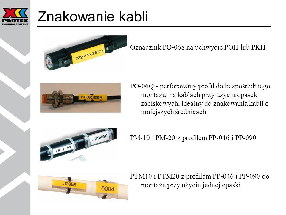 Znakowanie kabli Oznacznik PO-068 na uchwycie POH lub PKH