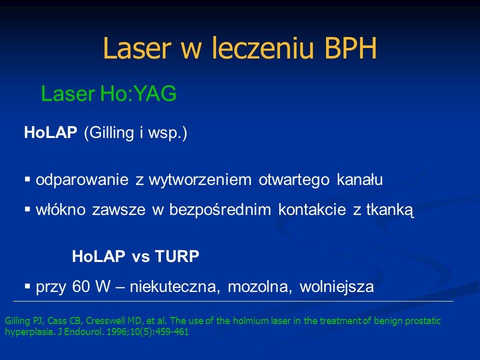 Laser w leczeniu BPH Laser Ho:YAG HoLAP (Gilling i wsp.)