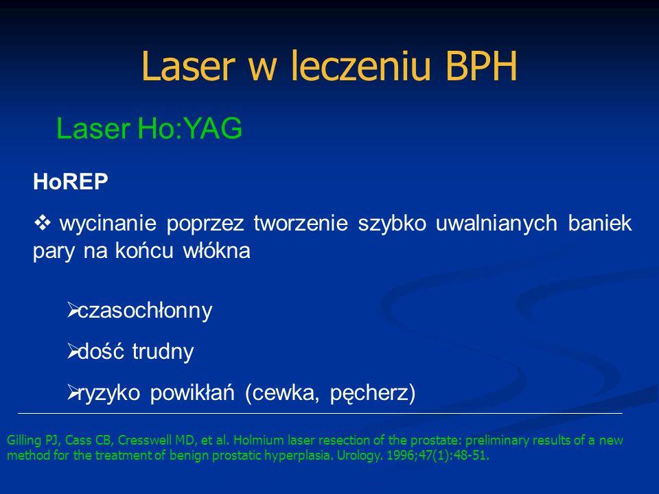 Laser w leczeniu BPH Laser Ho:YAG HoREP