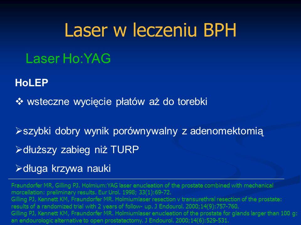 Laser w leczeniu BPH Laser Ho:YAG HoLEP