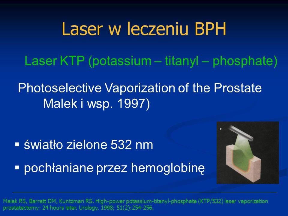 Laser w leczeniu BPH Laser KTP (potassium – titanyl – phosphate)