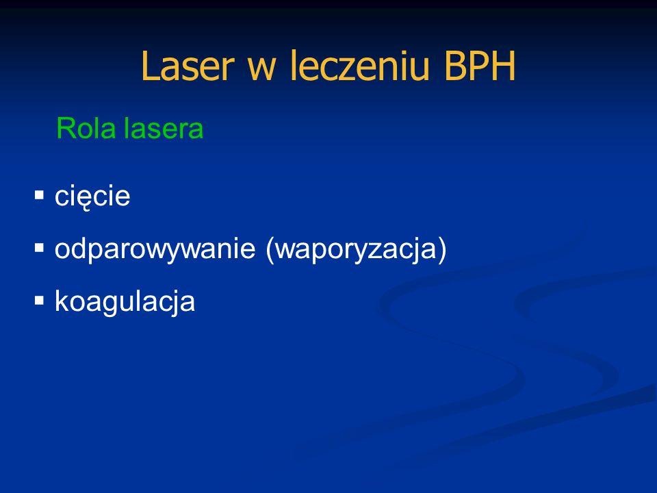 Laser w leczeniu BPH Rola lasera cięcie odparowywanie (waporyzacja)