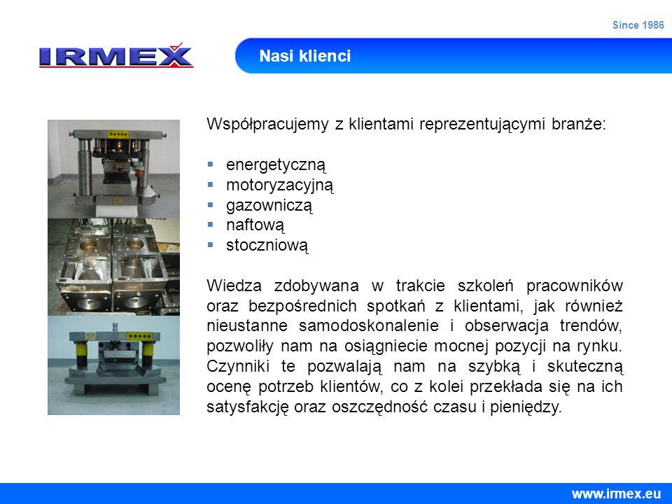 Współpracujemy z klientami reprezentującymi branże: energetyczną
