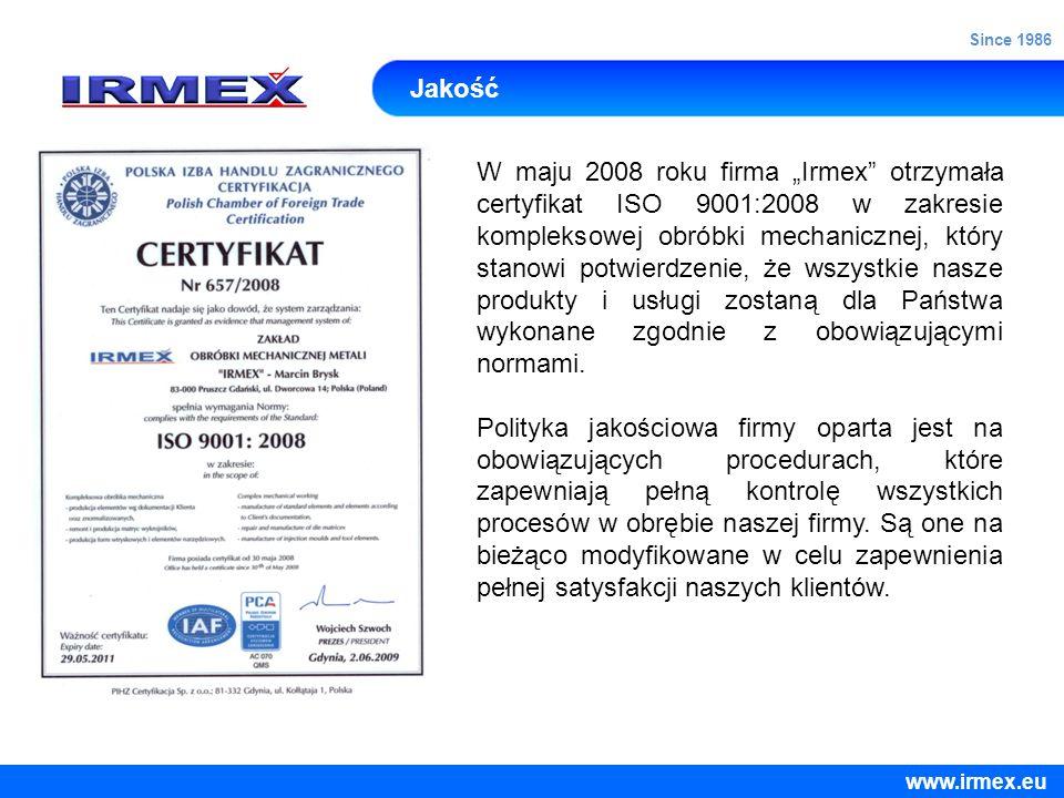 Since 1986 Jakość.