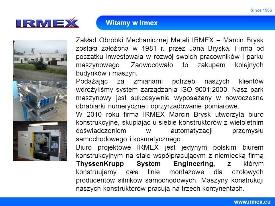 Since 1986 Witamy w Irmex.