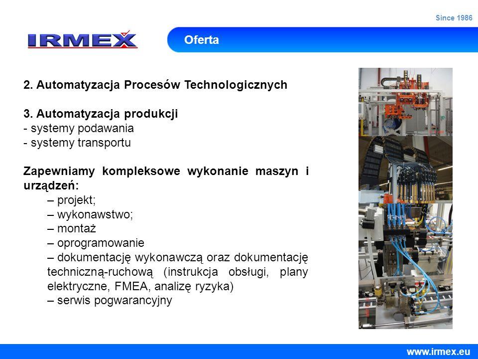 2. Automatyzacja Procesów Technologicznych 3. Automatyzacja produkcji
