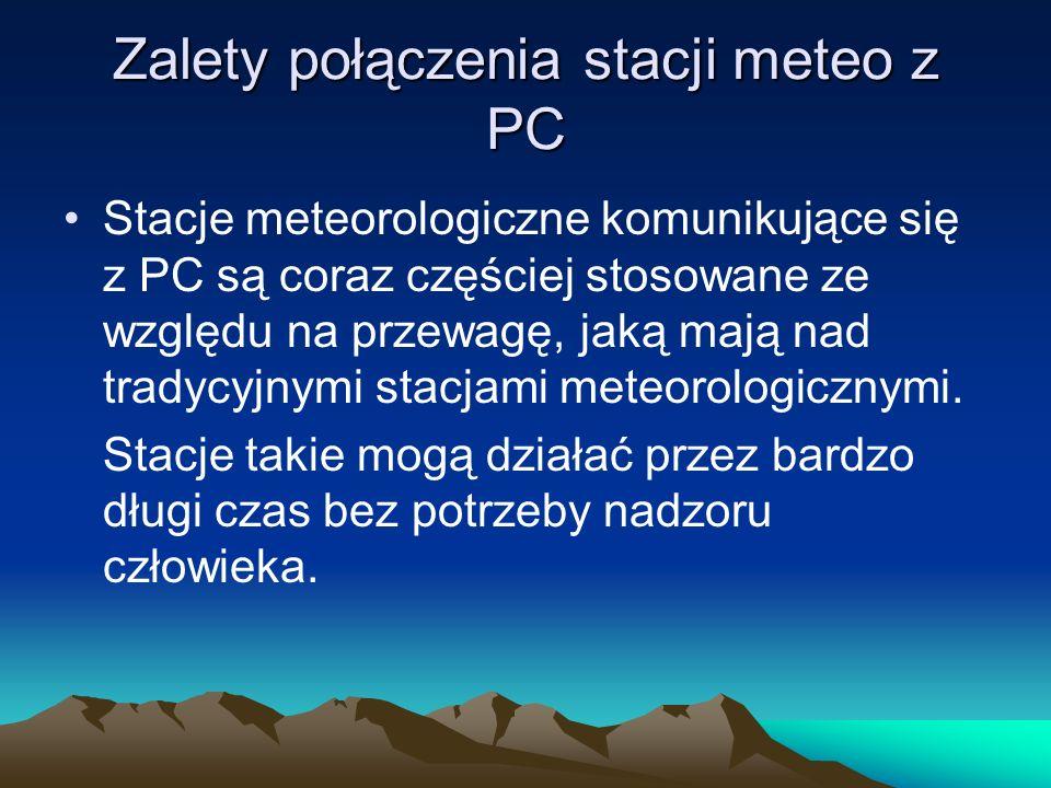 Zalety połączenia stacji meteo z PC