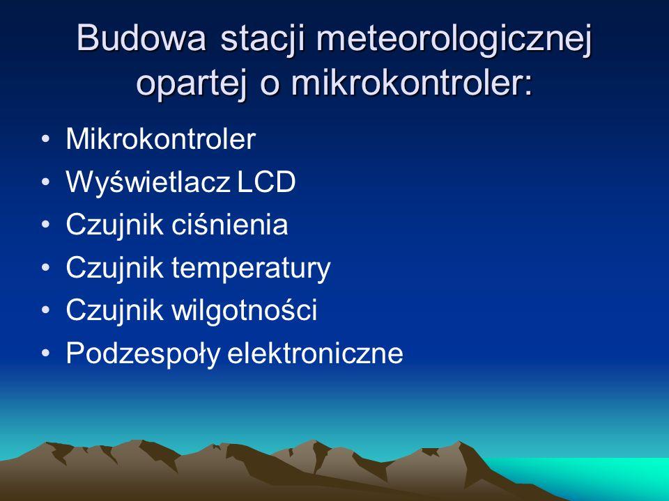 Budowa stacji meteorologicznej opartej o mikrokontroler: