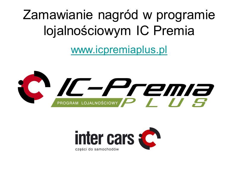 Zamawianie nagród w programie lojalnościowym IC Premia