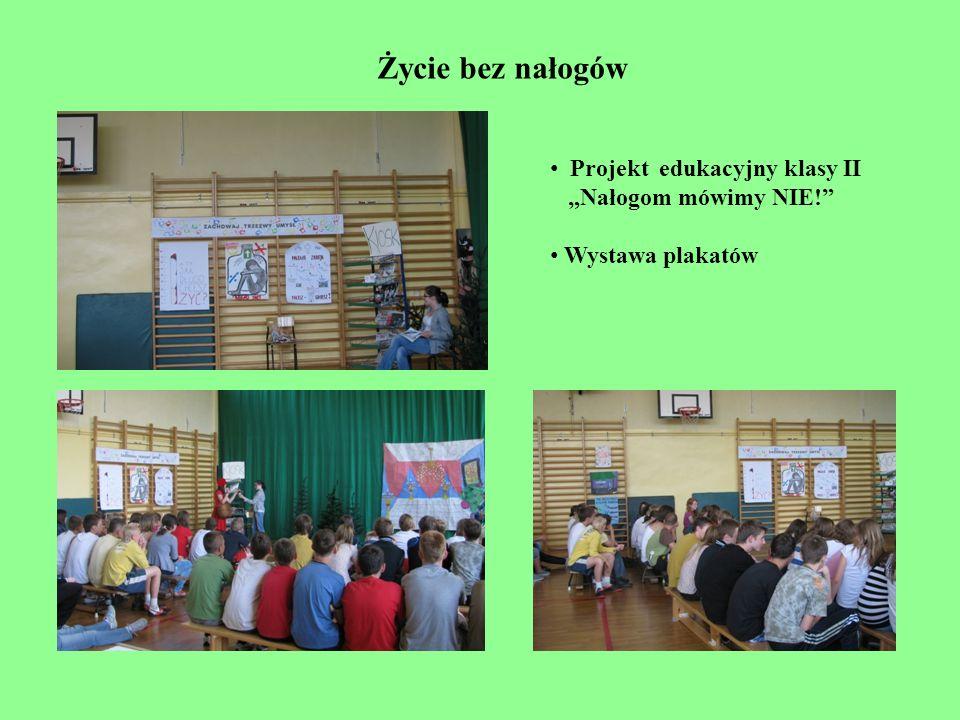 """Życie bez nałogów Projekt edukacyjny klasy II """"Nałogom mówimy NIE!"""