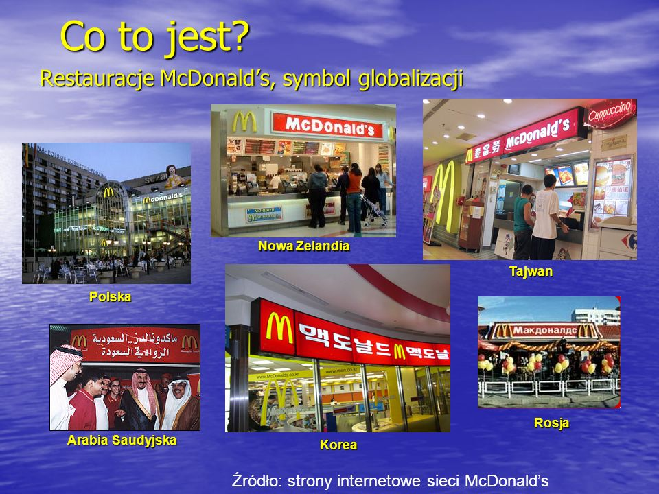 Restauracje McDonald's, symbol globalizacji