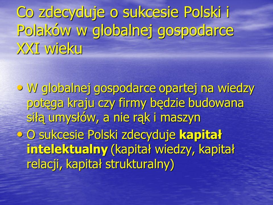 Co zdecyduje o sukcesie Polski i Polaków w globalnej gospodarce XXI wieku