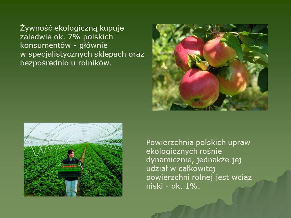 Żywność ekologiczną kupuje zaledwie ok