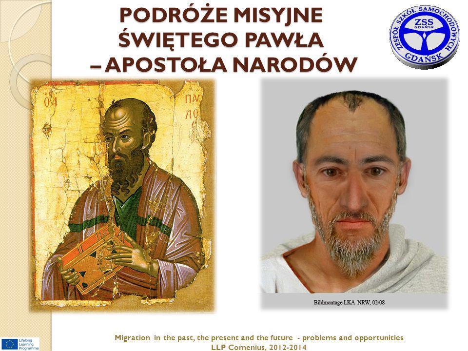 PODRÓŻE MISYJNE ŚWIĘTEGO PAWŁA – APOSTOŁA NARODÓW
