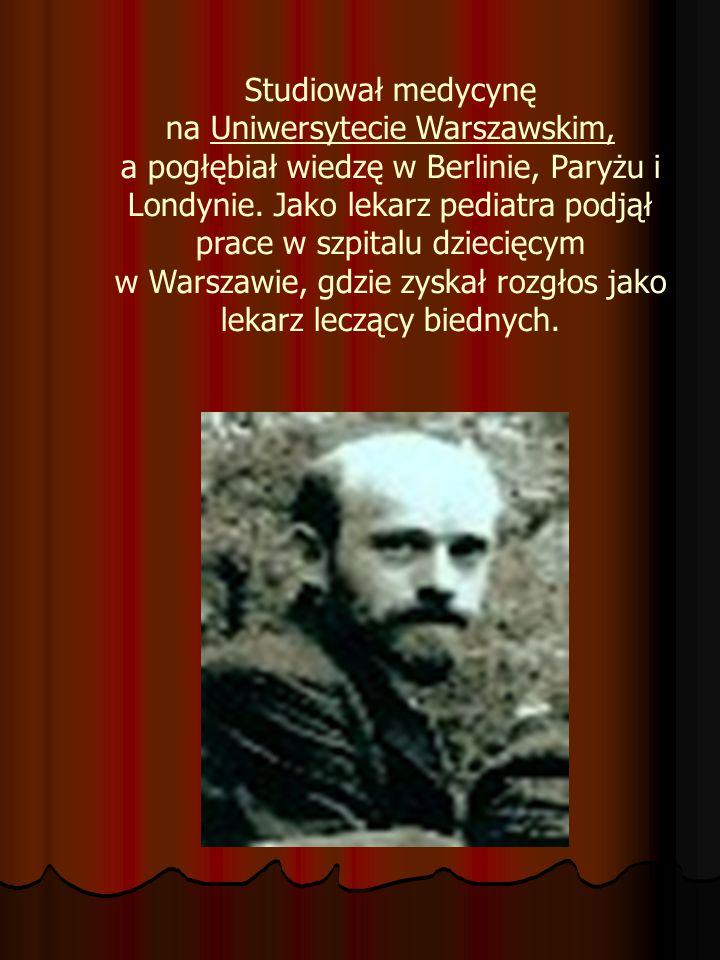 Studiował medycynę na Uniwersytecie Warszawskim, a pogłębiał wiedzę w Berlinie, Paryżu i Londynie.