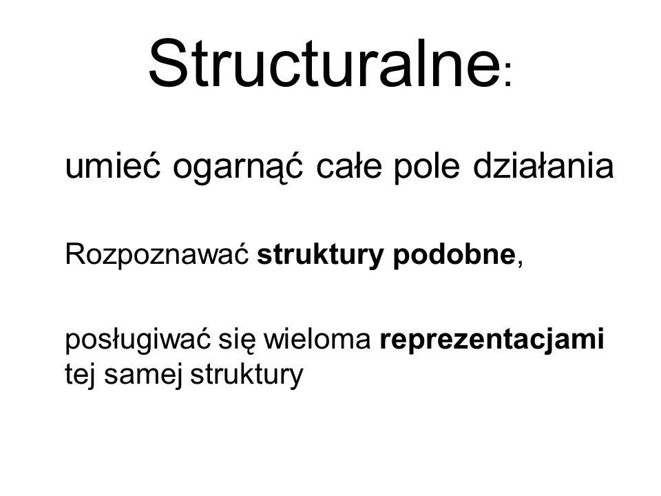 Structuralne: umieć ogarnąć całe pole działania