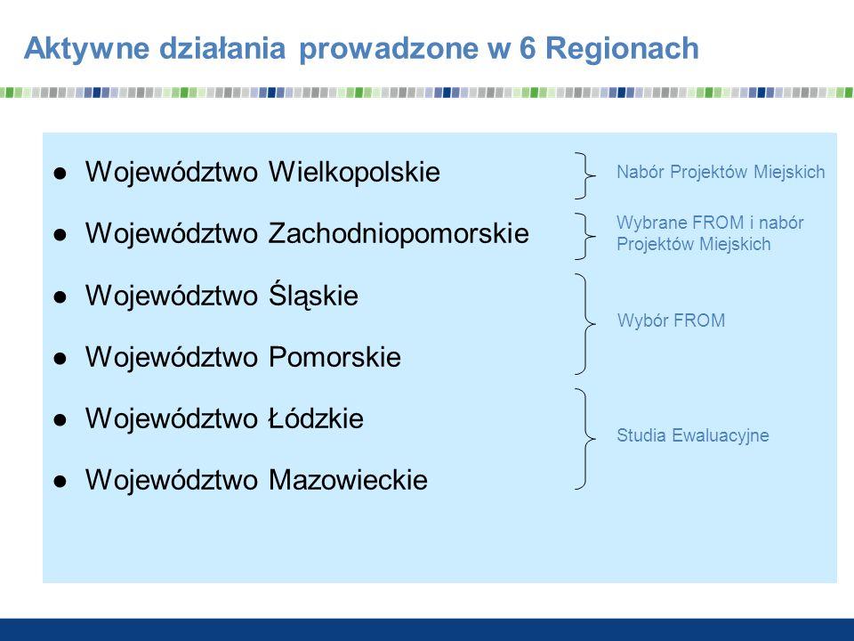 Aktywne działania prowadzone w 6 Regionach
