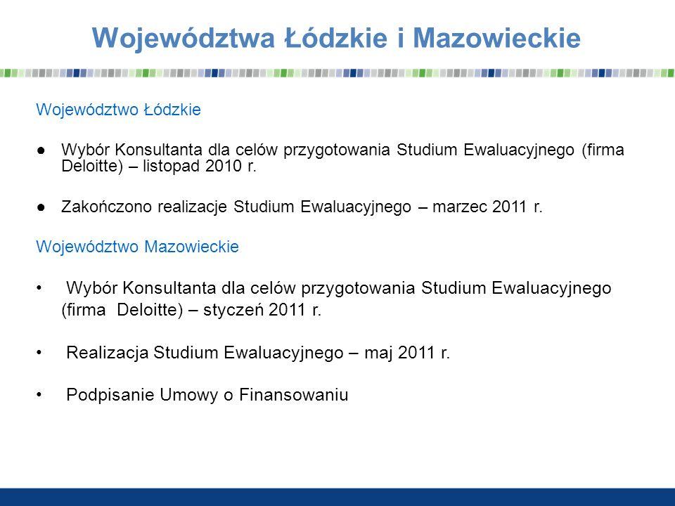 Województwa Łódzkie i Mazowieckie
