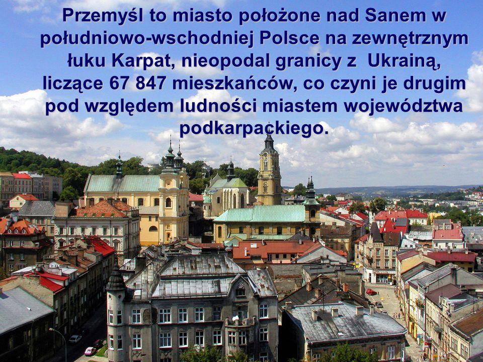 Przemyśl to miasto położone nad Sanem w południowo-wschodniej Polsce na zewnętrznym łuku Karpat, nieopodal granicy z Ukrainą, liczące 67 847 mieszkańców, co czyni je drugim pod względem ludności miastem województwa podkarpackiego.