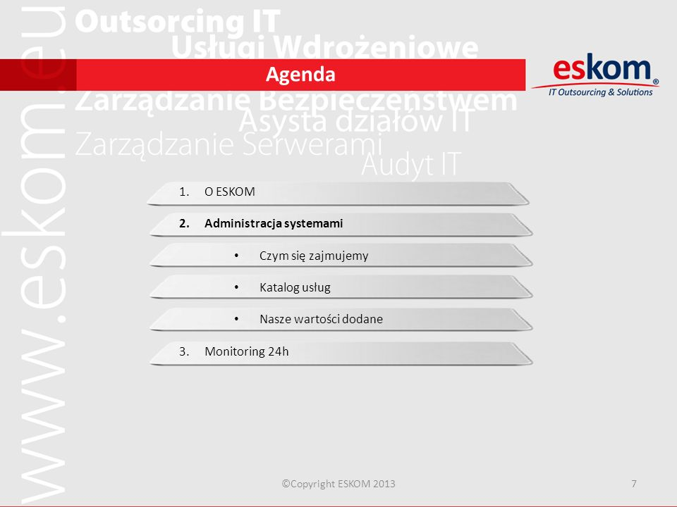 Administracja systemami Czym się zajmujemy Katalog usług