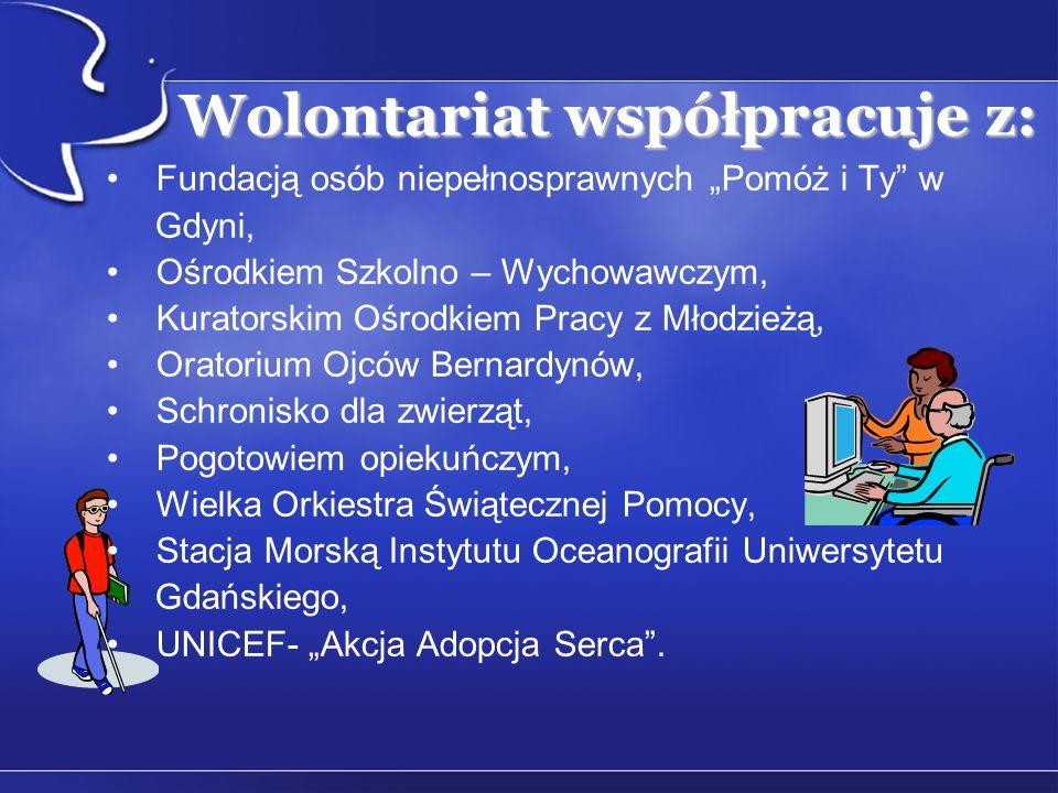 Wolontariat współpracuje z: