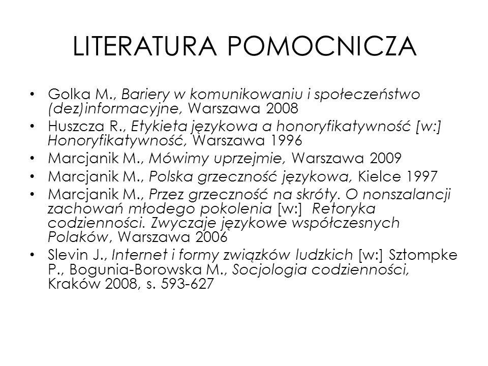 LITERATURA POMOCNICZA