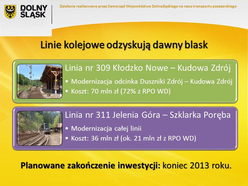 Linie kolejowe odzyskują dawny blask